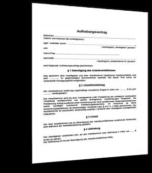 muster aufhebungsvertrag - Arbeitnehmeruberlassungsvertrag Muster