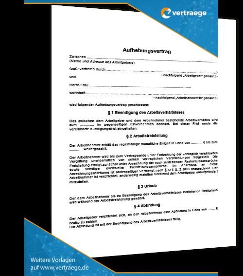 Muster Kündigung Arbeitsvertrag Vertraegede