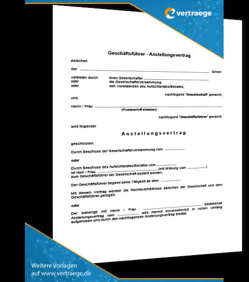 muster geschftsfhrervertrag - Geschaftsfuhrervertrag Muster