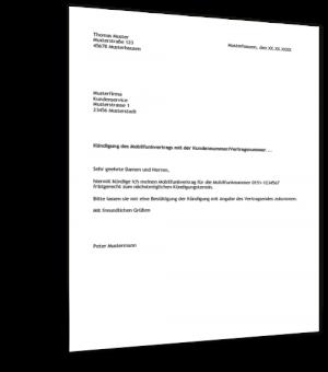 muster kndigung handyvertrag - Subunternehmervertrag Muster