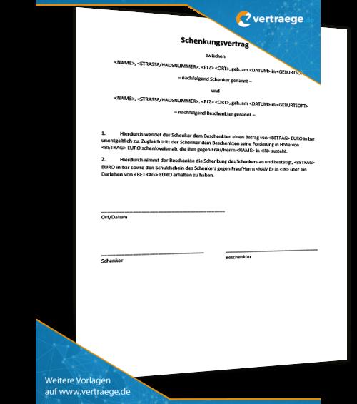 muster vertrag schenkung - Muster Kooperationsvertrag